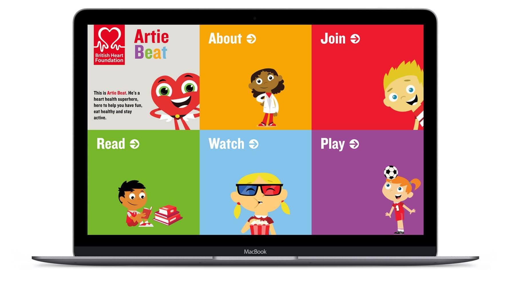 Artie Beat – BHF  - Interactive Website