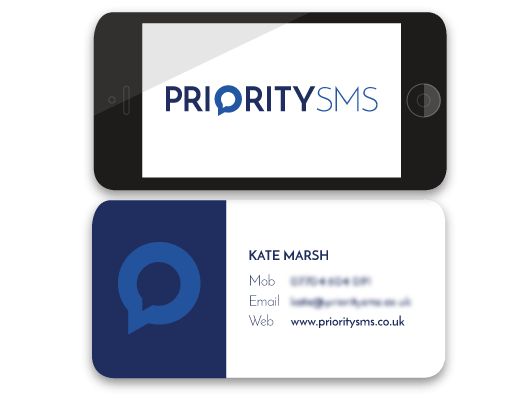 Business Card Design for PrioritySMS