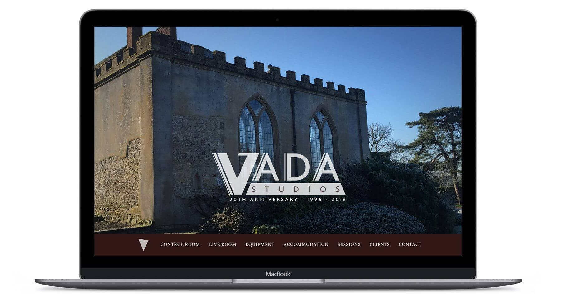 Vada Recording Studio  - Web Design