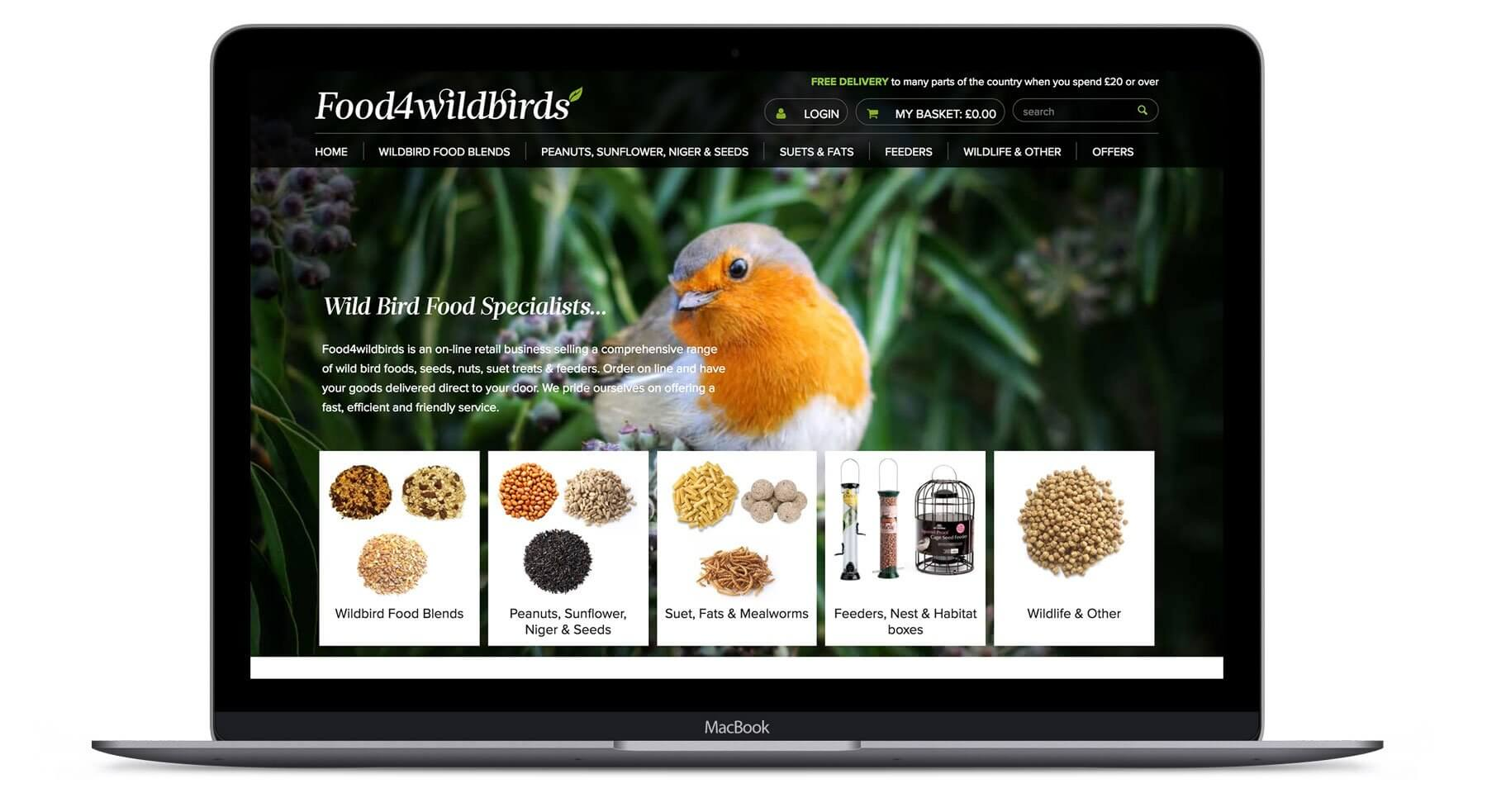 Food4Wildbirds  - Ecommerce Web Design
