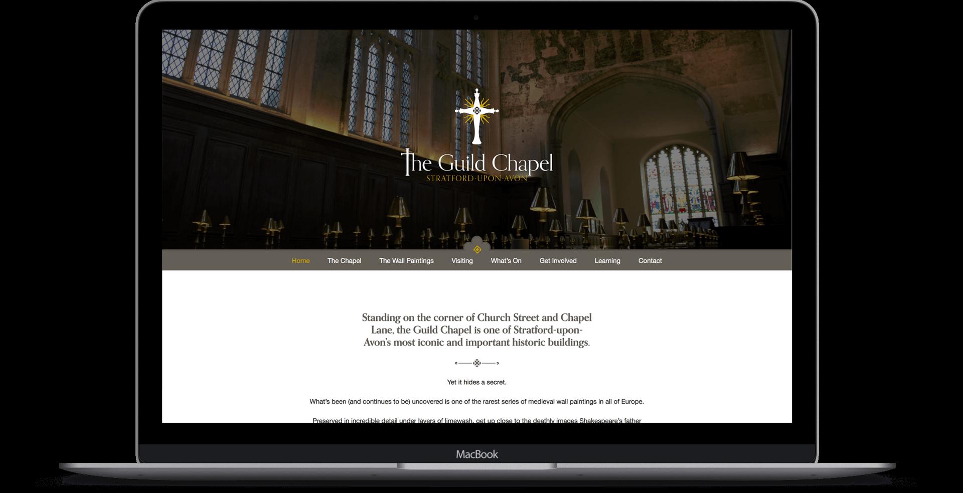The Guild Chapel  - Website Design