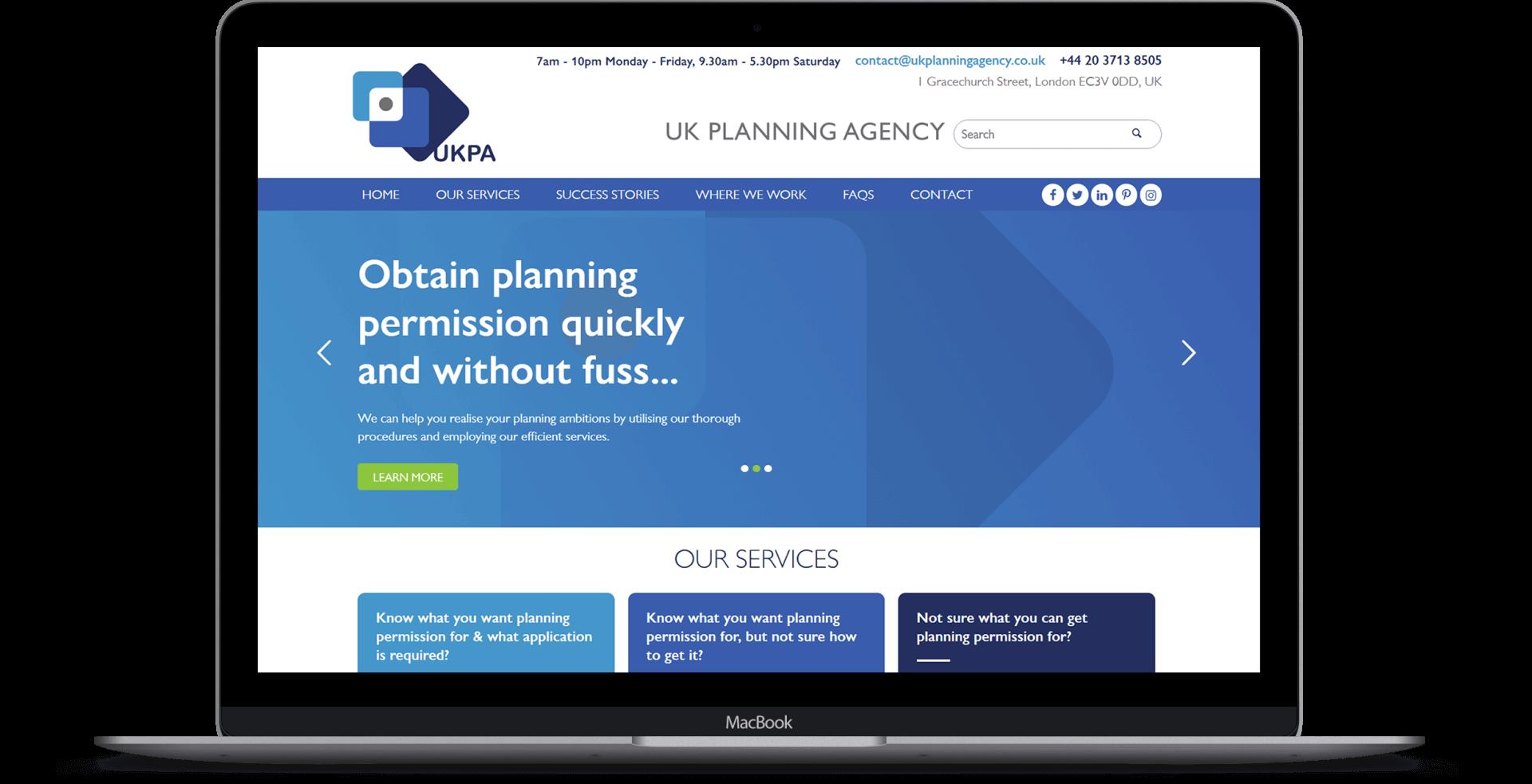UK Planning Agency  - Website Design