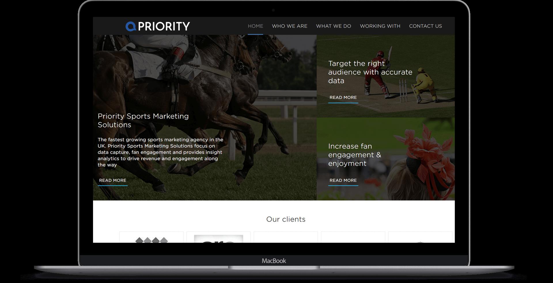 Priority Sports Marketing  - Website Design
