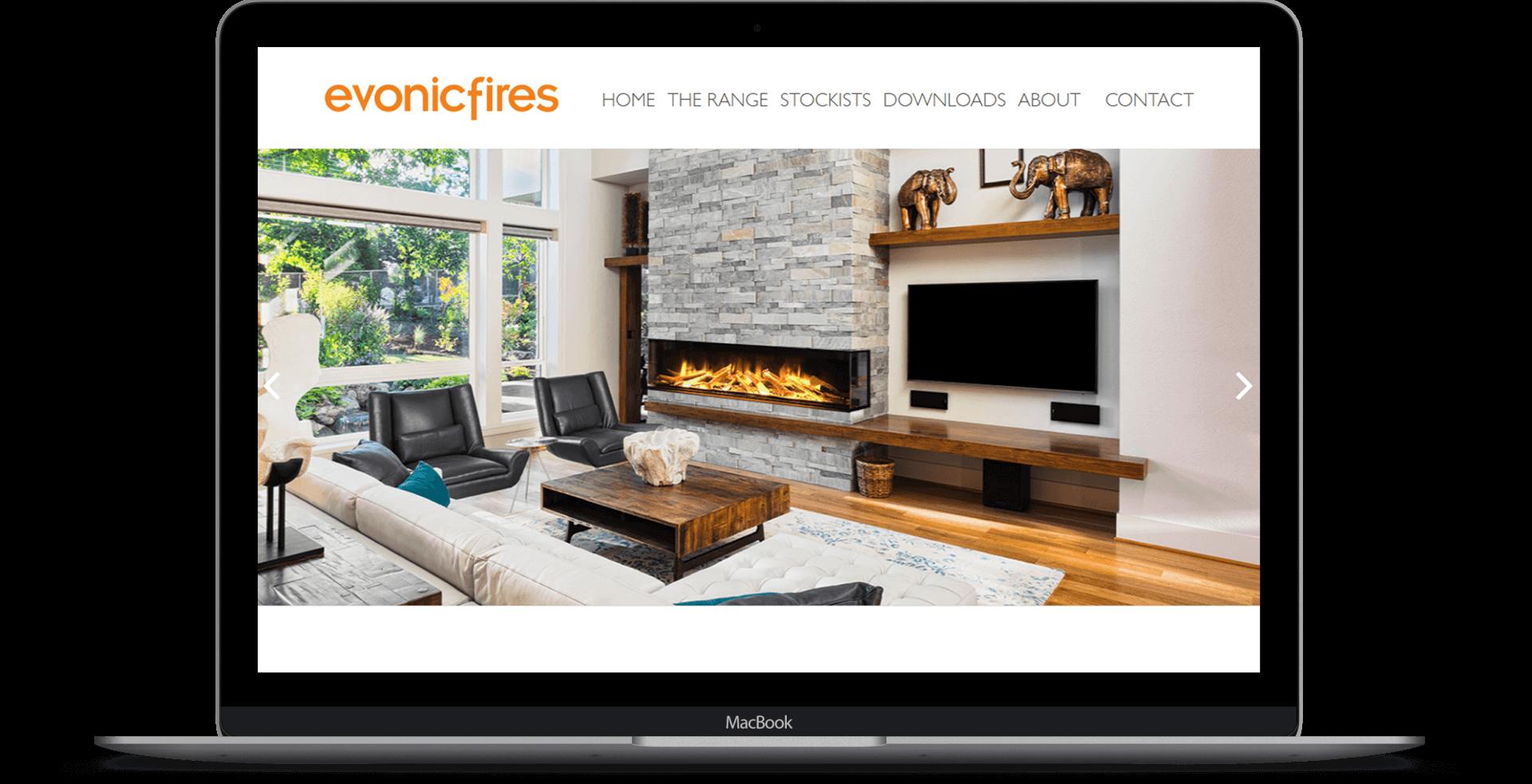 Evonic Fires  - Website Design