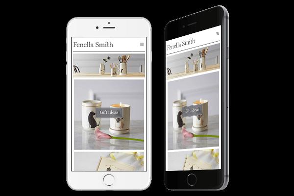 Responsive Ecommerce Web Design for Fenella Smith