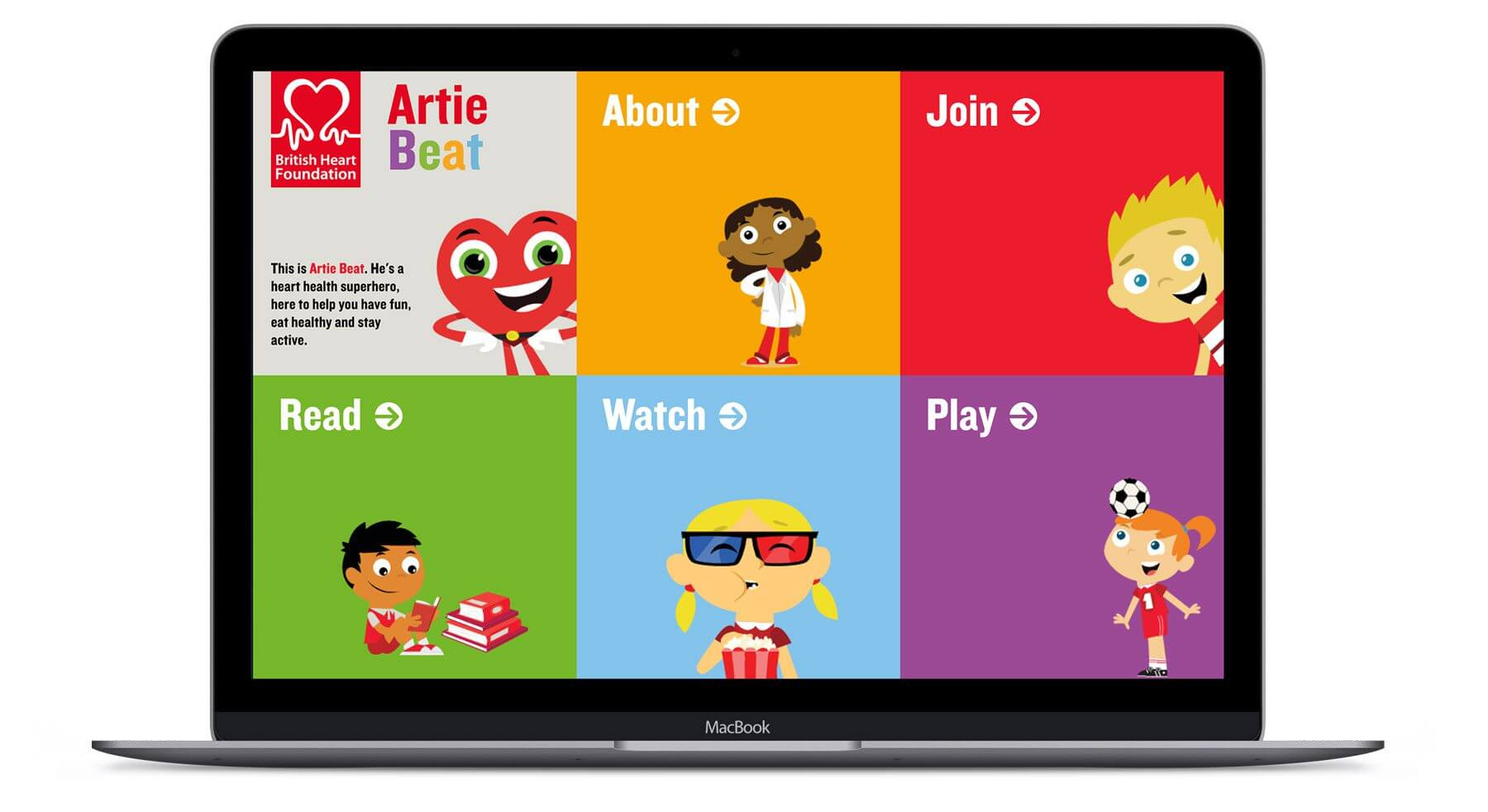 Artie Beat – BHF  - Interactive Website