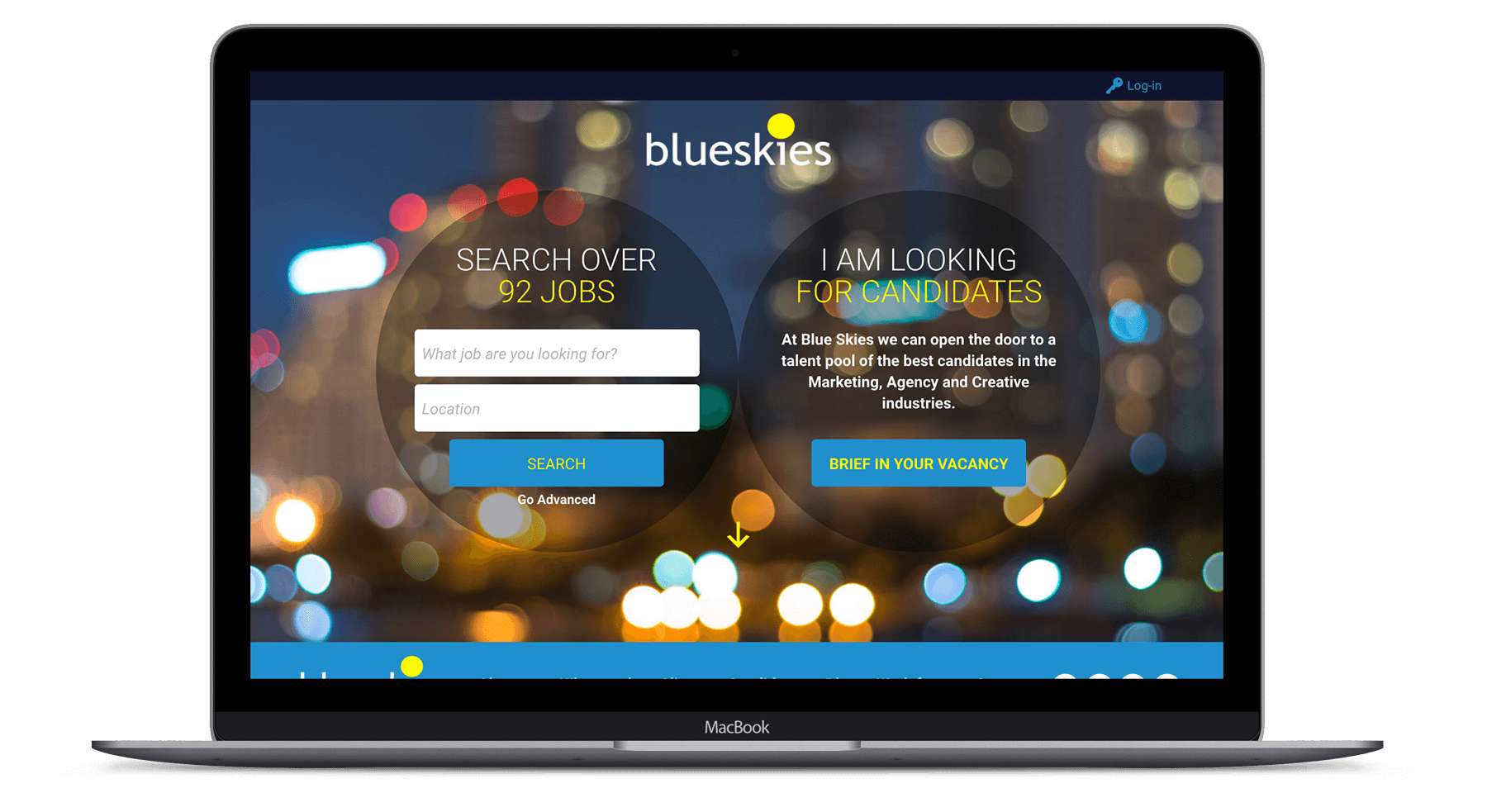 Blue Skies  - Recruitment Web Design