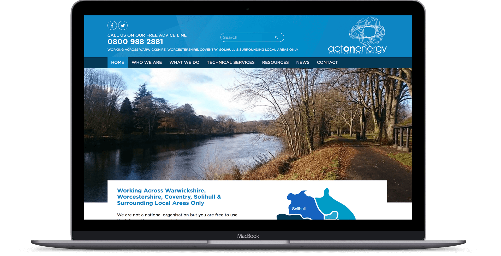 Act On Energy  - Website Re-design