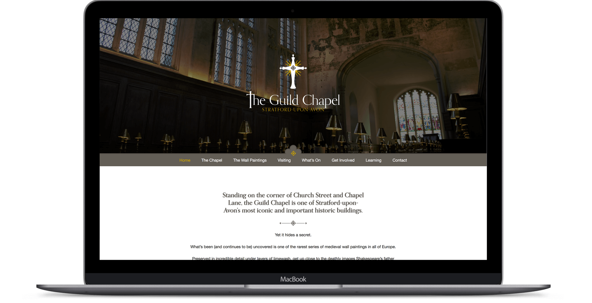 The Guild Chapel  - Website Design