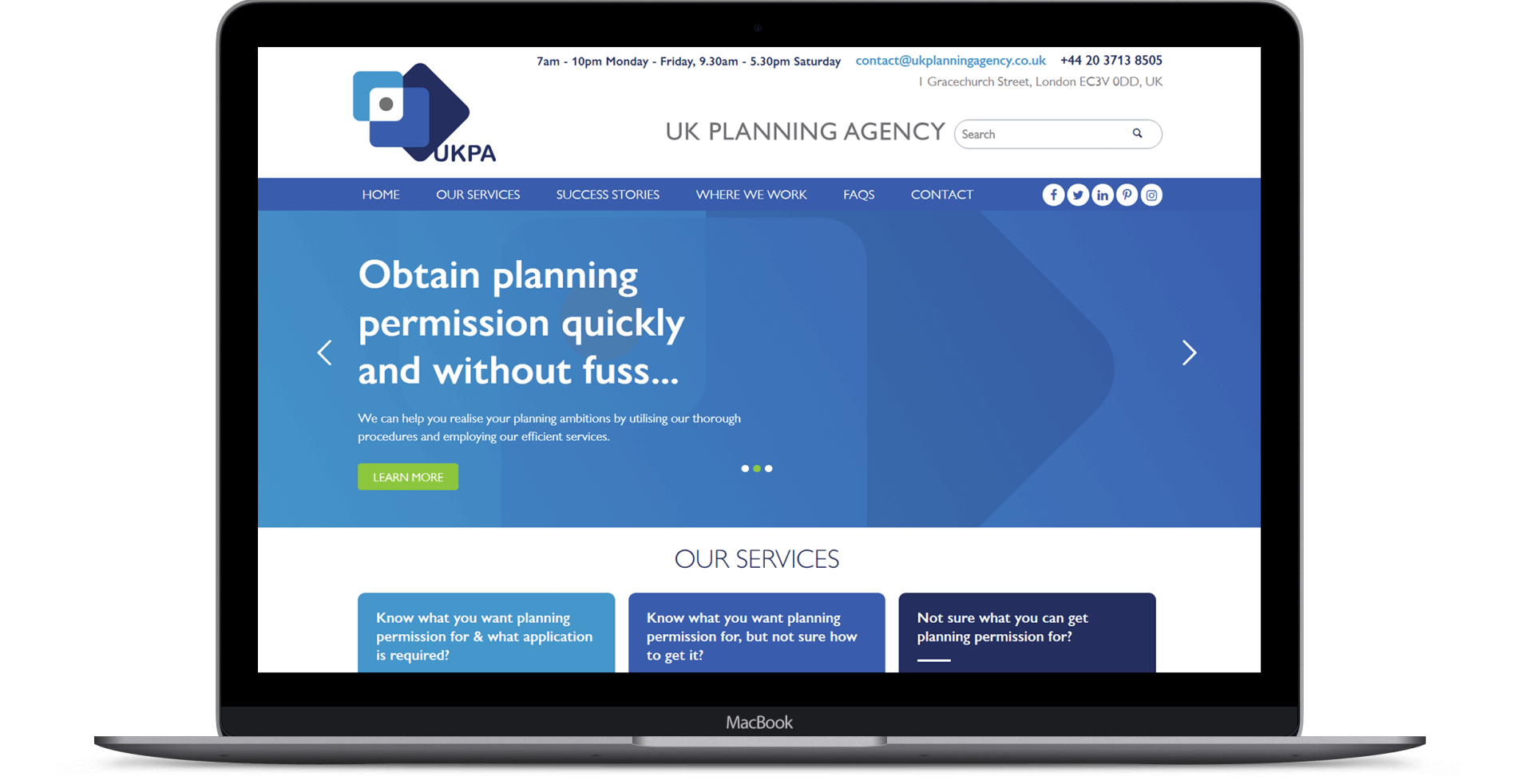 UK Planning Agency  - Website Design