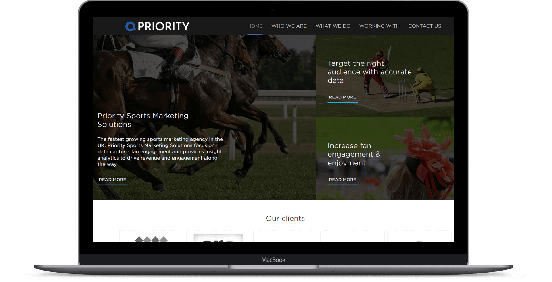 Priority Sports Marketing  - Website Design