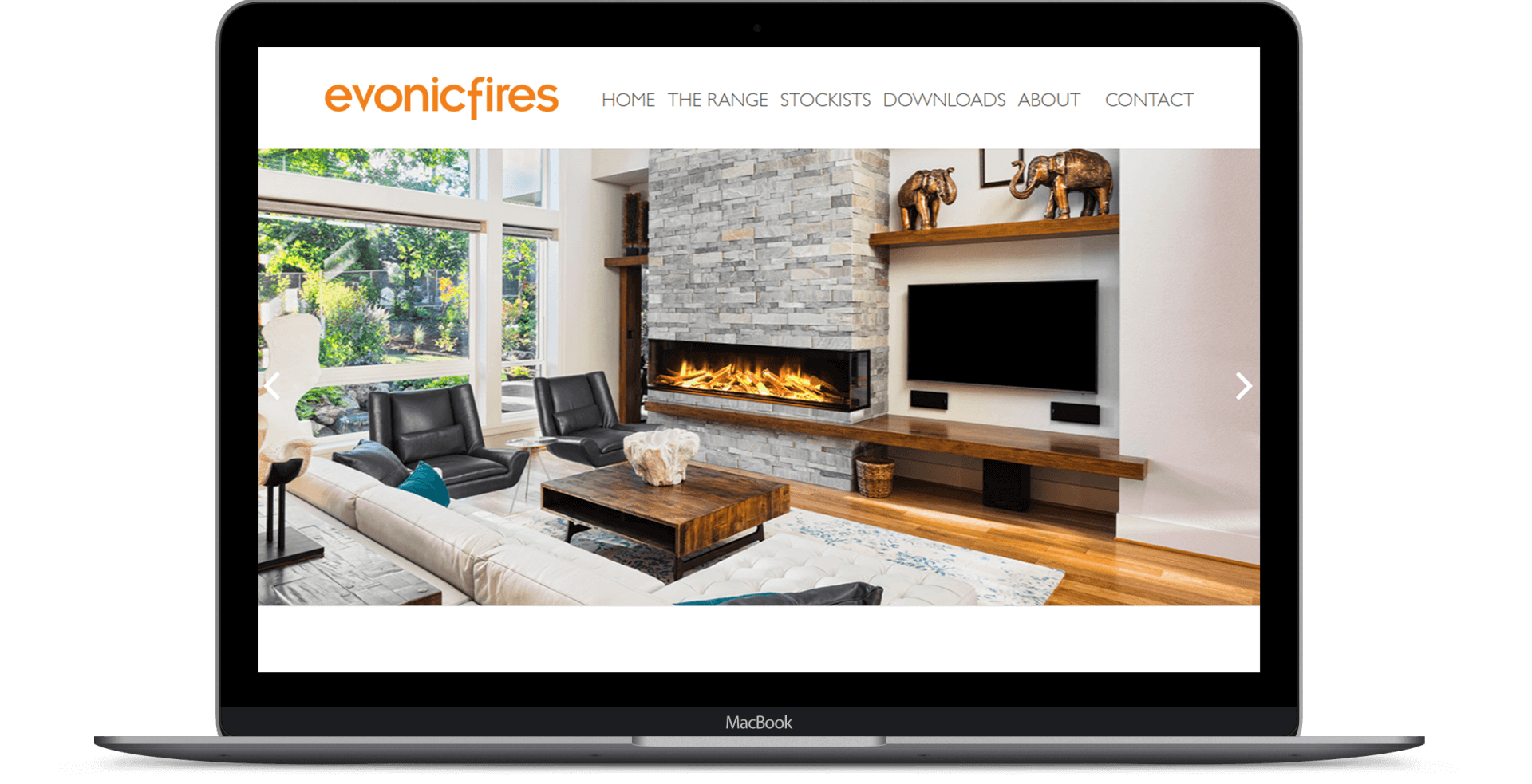Evonic Fires  - Website Design