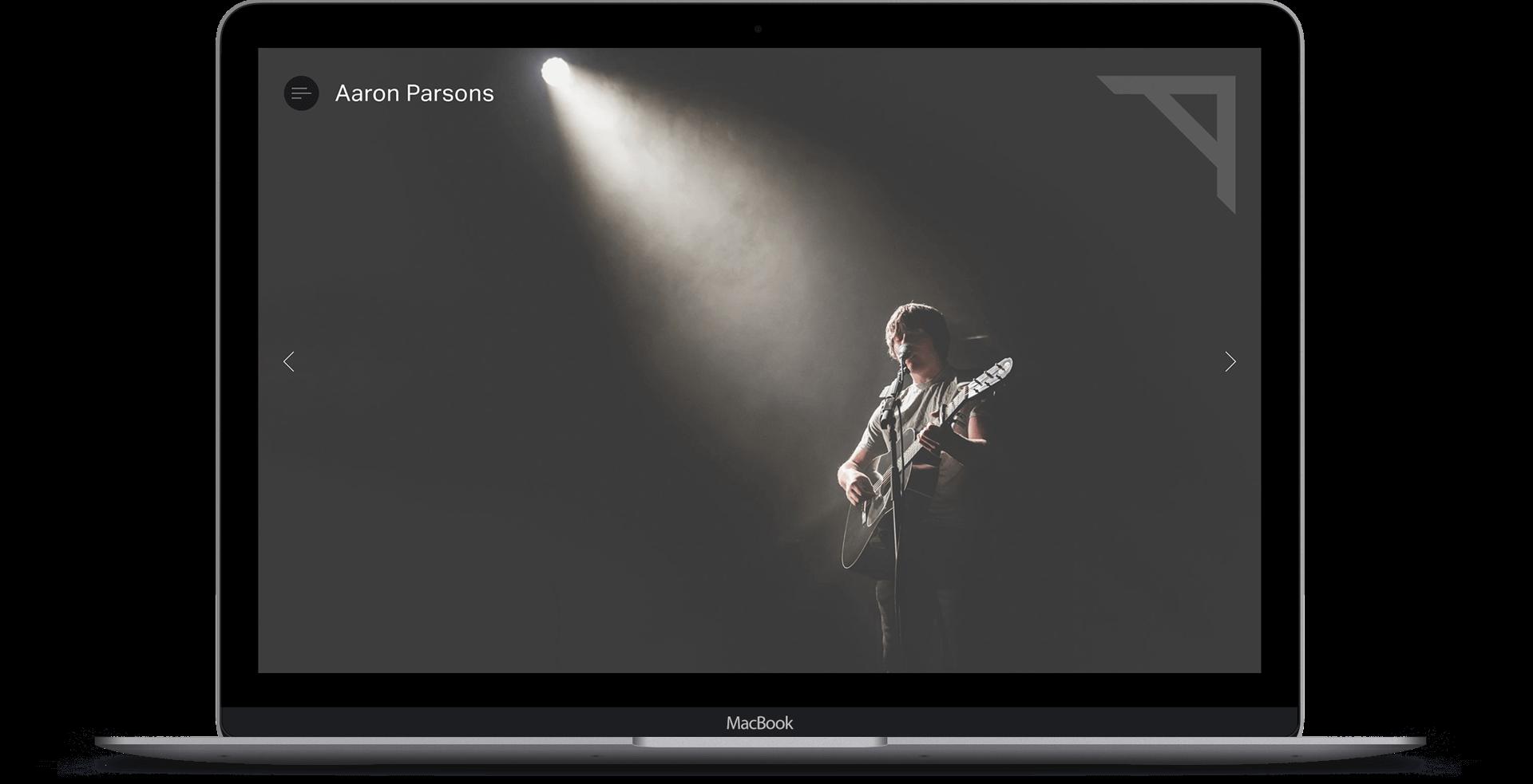 Aaron Parsons  - Photography Website Design